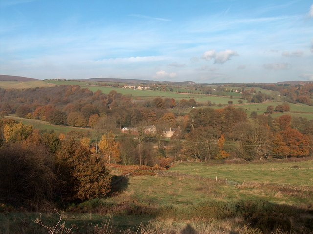 Autumn View northwards from Strawberry Lee Lane