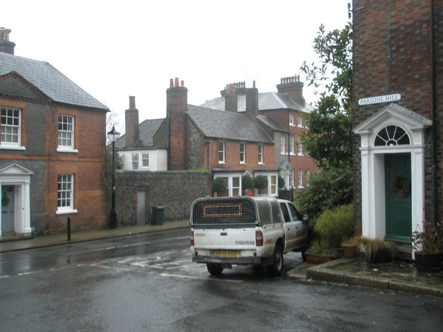 Looking from Parsons Hill into Maltravers Street