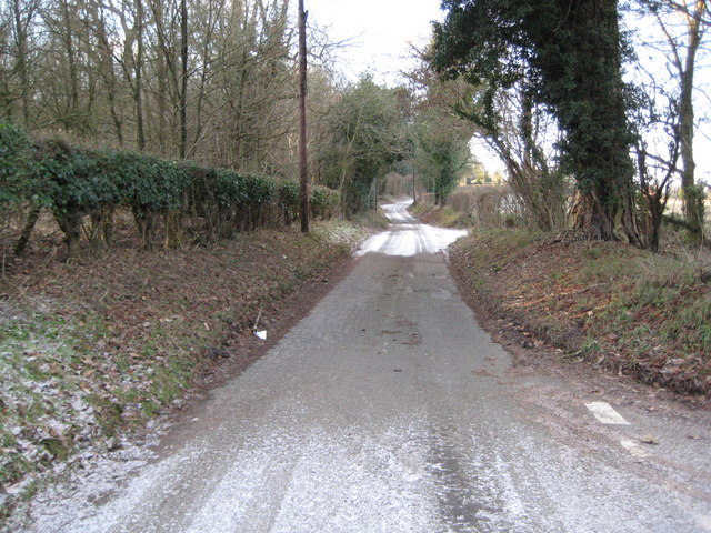 Welford: Unnamed lane to Home Farm