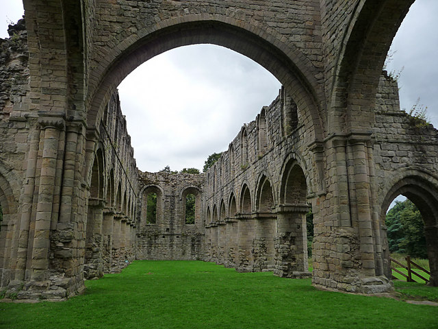 Buildwas Abbey, nave looking west