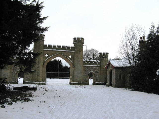 South Lodge and Gateway to the Slindon Estate