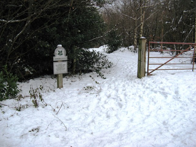 Southerly entrance to the Slindon Estate