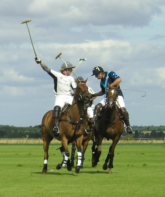 Action at Cirencester Park Polo Club
