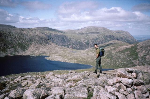 Summit cairn on Creagan a' Choire Etchachan