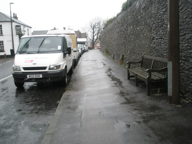 Seat opposite Arundel Cathedral in London Road