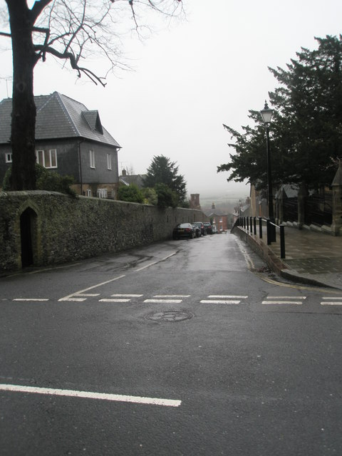 Looking from London Road into Parsons Hill
