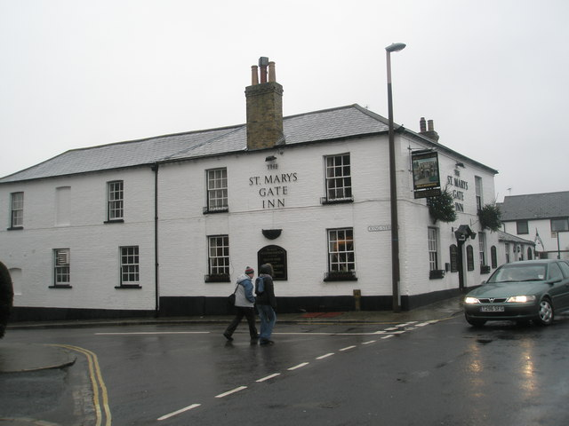 The St Mary's Gate Inn at the top of King Street