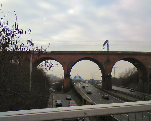Viaduct over the M60