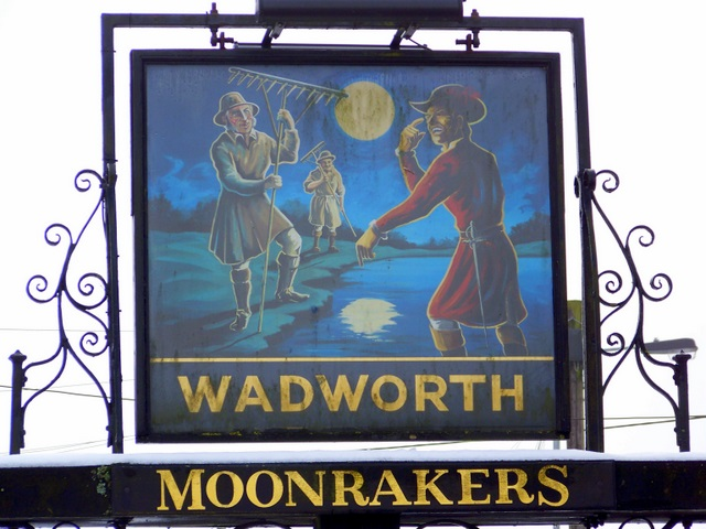 Sign for the Moonrakers