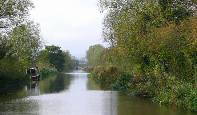 Trent and Mersey Canal west of Alrewas, Staffordshire