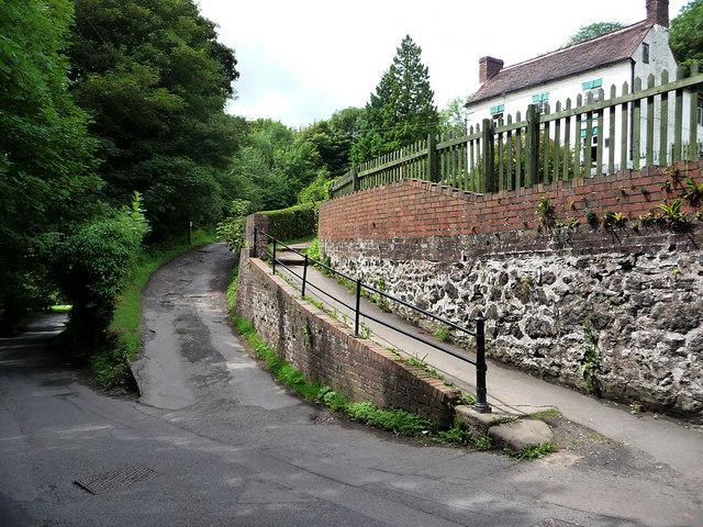 Coalport Road, just below the All Nations Inn