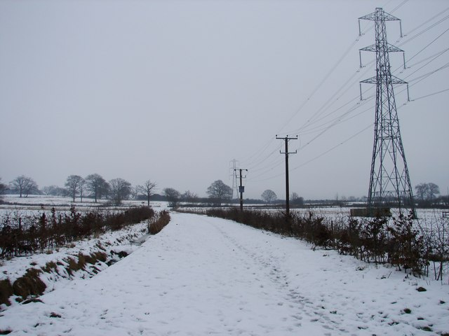 Permissive footpath in the snow