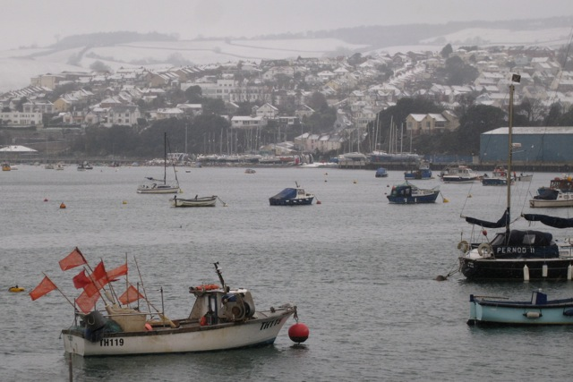 Snow in Teignmouth! (1)