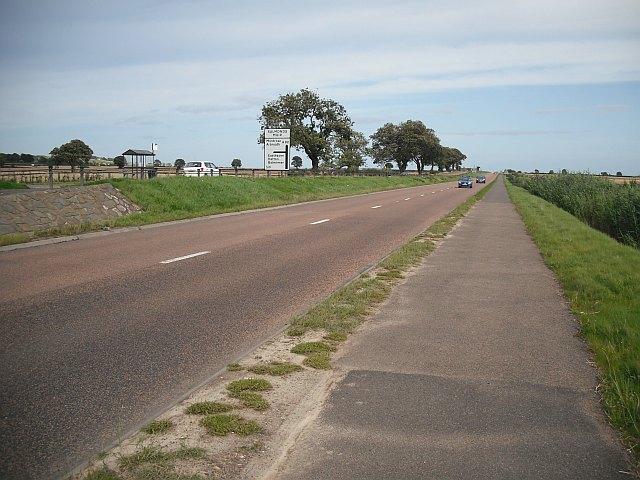 A92 approaching Salmond's Muir
