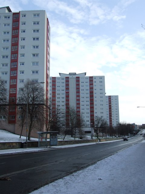 Drygate high rise blocks