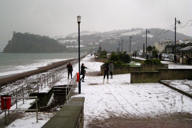 Snow in Teignmouth! (3)