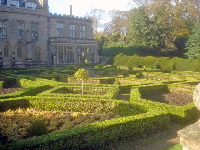 The Spanish Garden at Newstead Abbey