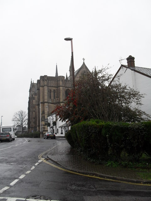 Looking from Mount Pleasant towards the cathedral