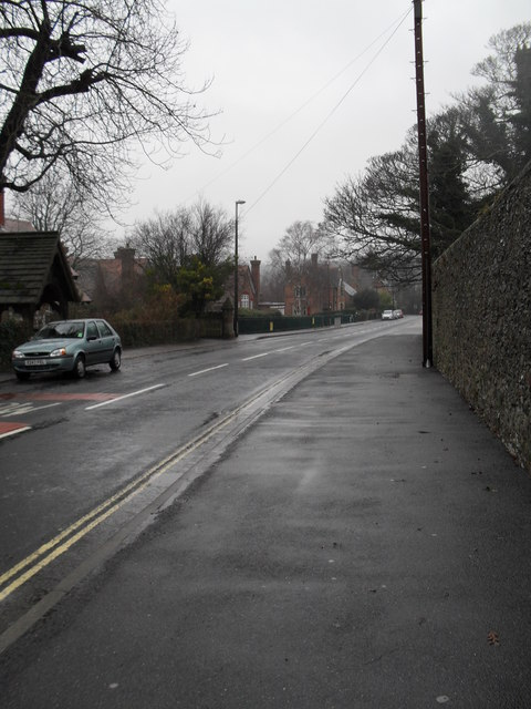 London Road on a wet and windy December afternoon