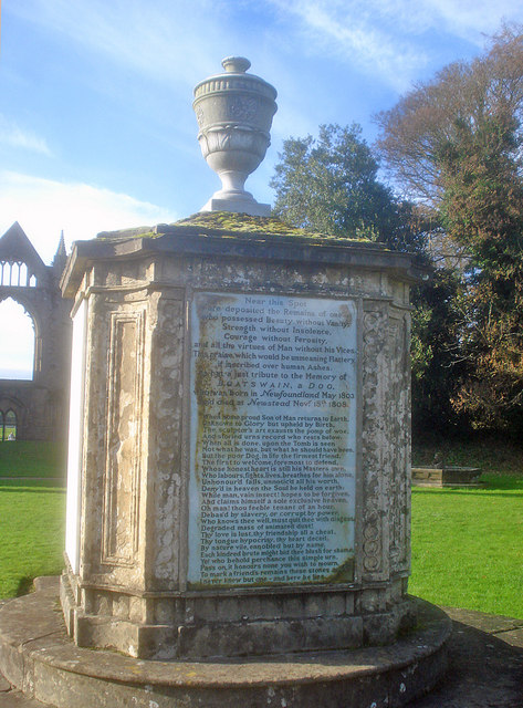 Boatswain's Monument at Newstead Abbey