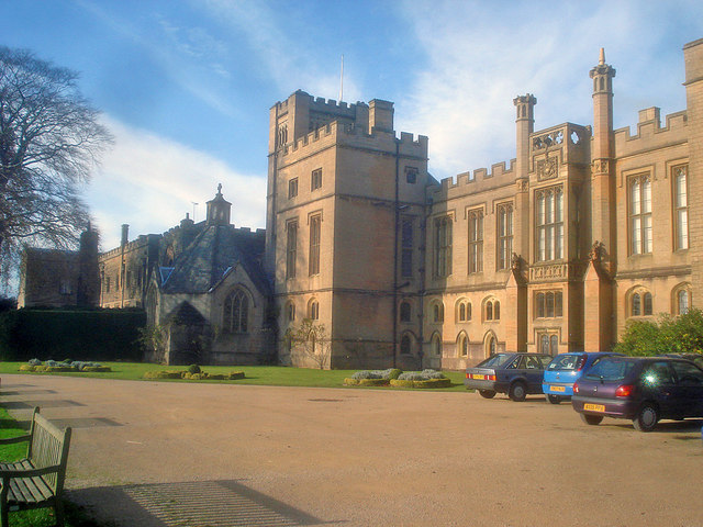Front entrance to Newstead Abbey
