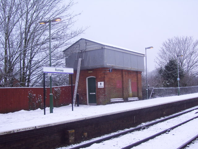 Convenient on Romsey railway station platform