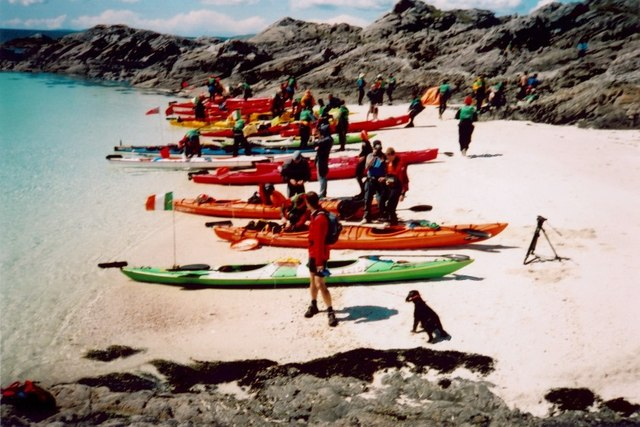 Adventure racers at Port nam Murrach beach