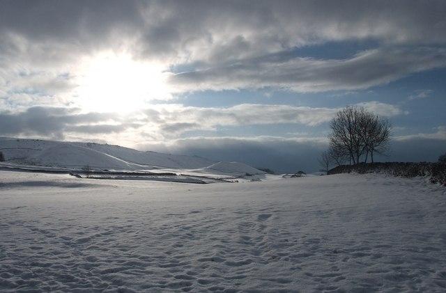 Winter sun near Linton