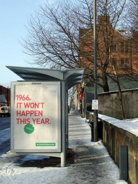 Bus shelter advert