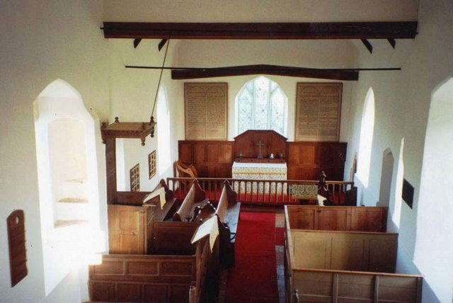 Interior of St Mary Magdalene Church, Withersdale