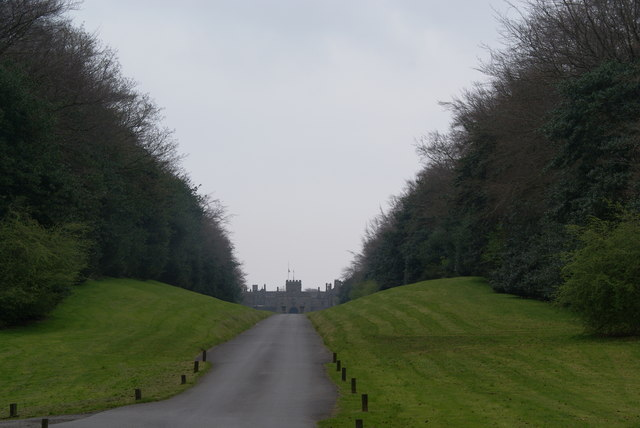 The driveway of Hoghton Tower