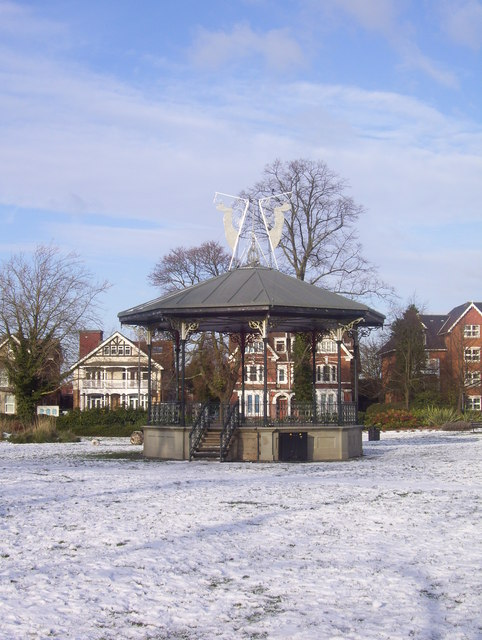 Victorian bandstand in Town Park, Eastleigh