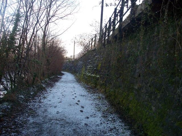 Footpath between River Taff and railway