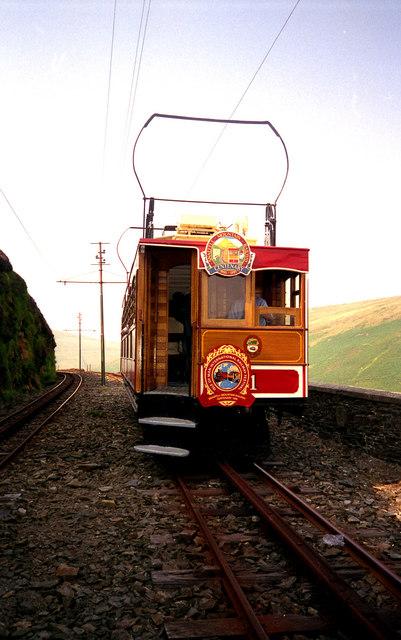 Near the Summit on the Snaefell Mountain Railway