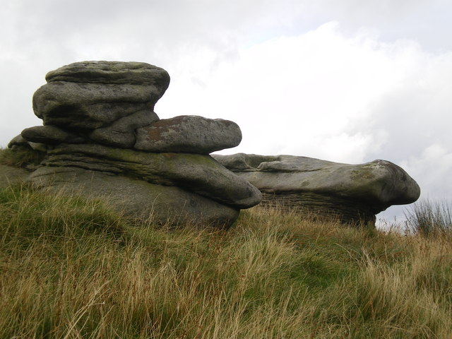 Odd shapes of millstone grit boulders - Bowland