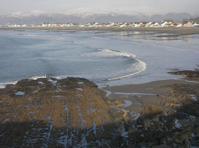 View north over Borth Beach