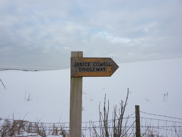 Janice Cowell Bridleway, Signs