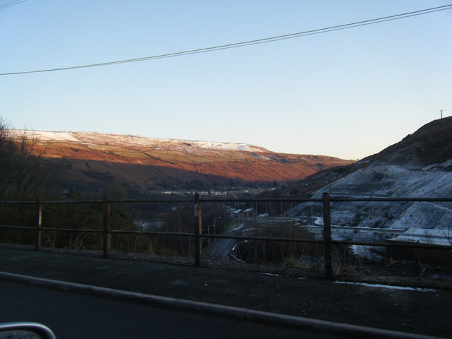 Rhondda Fach valley from Hillside Terrace