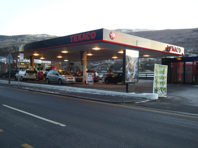 Texaco garage, Llwyncelyn Road.