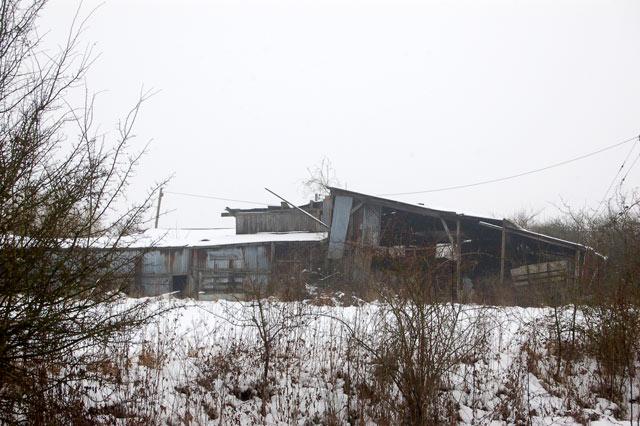 Semi-derelict farm buildings at Marston Doles