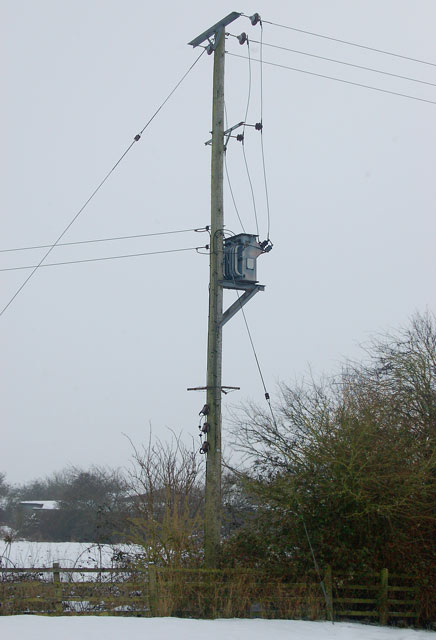 Electricity transformer beside the Oxford Canal, Marston Doles