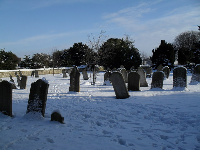 Snowy conditions in Havant Cemetery (2)