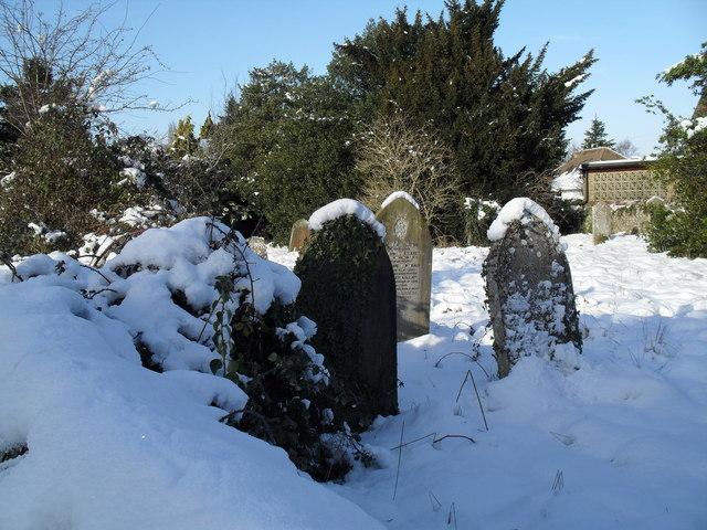 Snowy conditions in Havant Cemetery (4)