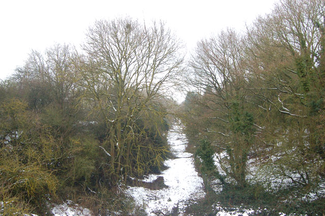 Looking north along the dismantled railway west of Dunchurch