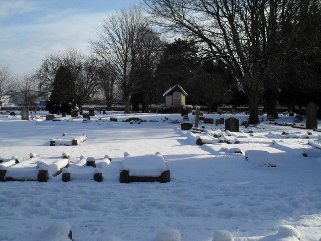 Snowy conditions in Havant Cemetery (7)