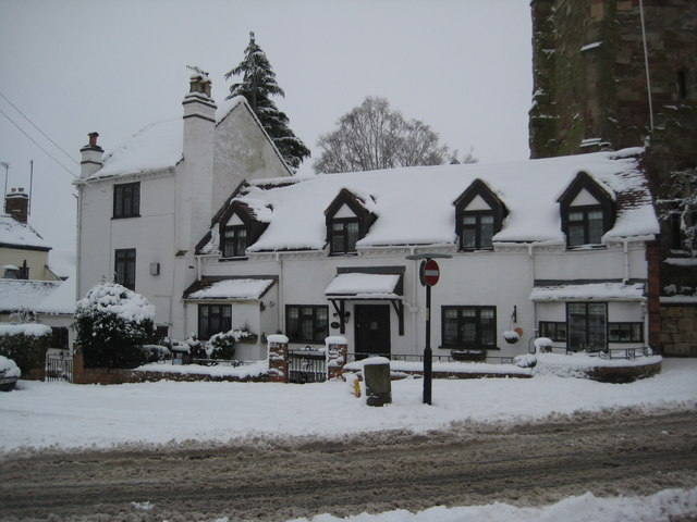 Cottage in snow, Upton-upon-Severn