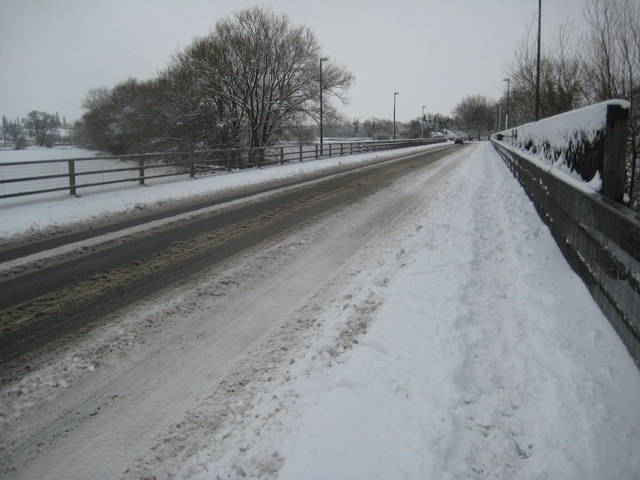 The A4104 at Upton-upon-Severn