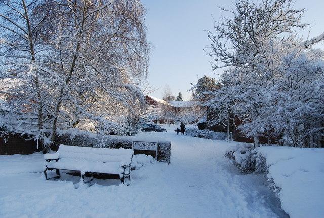 St Andrew's Court - a winter scene