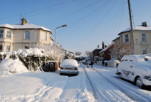 Snowed in - Garlinge Rd