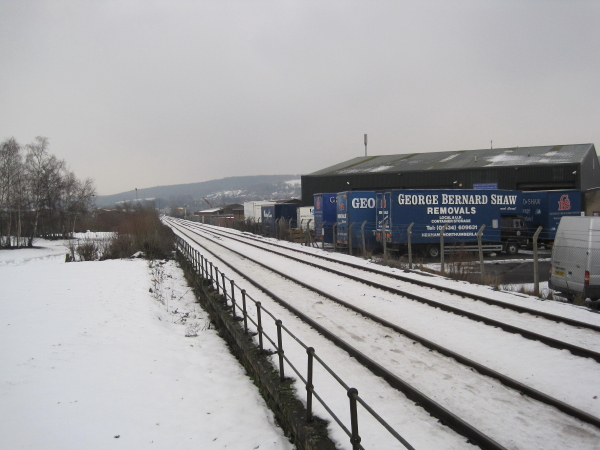 Newcastle to Carlisle Railway Line at Hexham